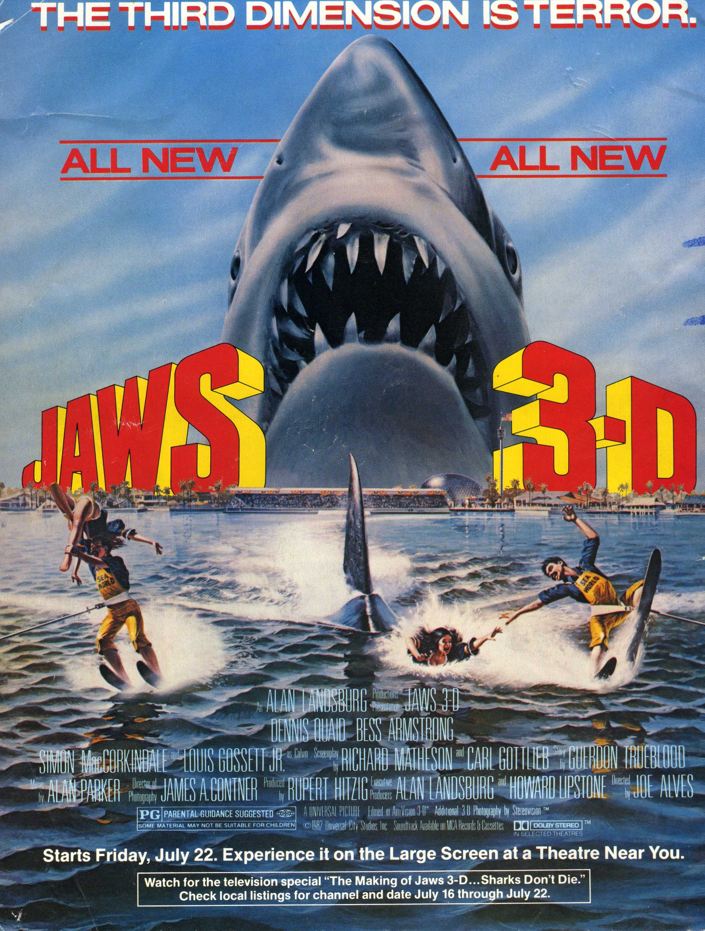 Jaws the movie screen savers